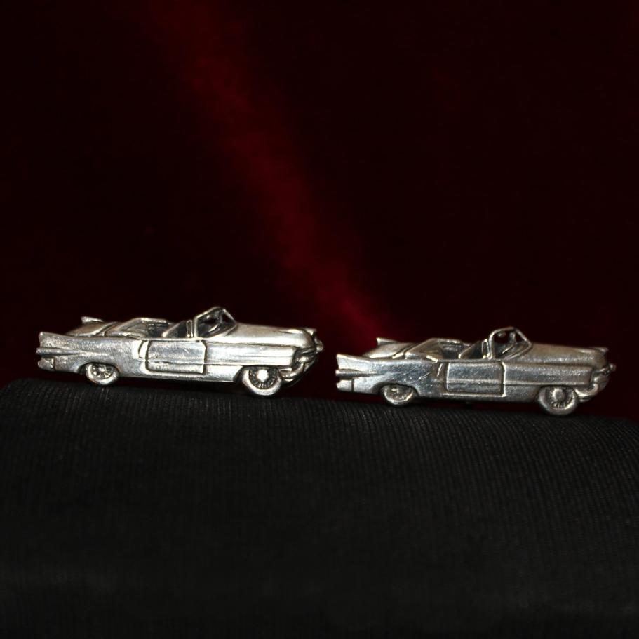 Scarce set Fenwick and Sailor Cuff Links Solid Silver Vintage Cadillac Convertibles 1958 Los Angeles