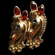 Coro Rhinestone Daily Double Horse Duette Pin  Book Piece