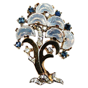 Trifari Clair De Lune Tree of Life Pin Brooch 1950's