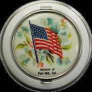 Fort Ord Souvenir Vintage Powder Compact
