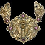 Joseff Gypsy Girl Pin Brooch Earrings Set Original Card