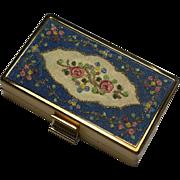 Elgin American Blue Floral Carryall Compact Unused