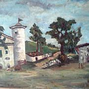 Vintage School Painting 70's