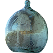 Antique Glass Demijohn, Antique Glass Carboy, Italian Glass Demijohn