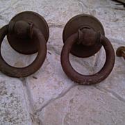 Antique Couple of Brass clappers, Antique brass rings to knock