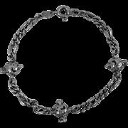 Vintage Sterling 925 Popeye's Olive Oyl Link Style Bracelet Hard To Find