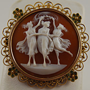 Round Shell Cameo, The Three Graces