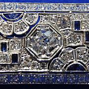 Art Deco Platinum and Diamond Broach