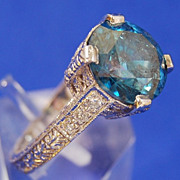 4.48 Carat Blue Diamond in an 18kt Gold Mounting.