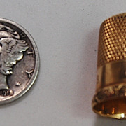 14kt Gold Thimble
