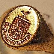 "Tiffany & Co 14kt Ladies Signet Ring ""Recognize Opportunity"""