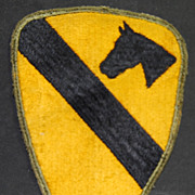Authentic, Worn WW2 1st Cavalry Division Patch