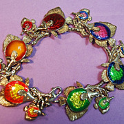 Kabana Enamelled Fish Bracelet