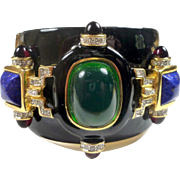 Huge Ken Lane Jewelled Cuff
