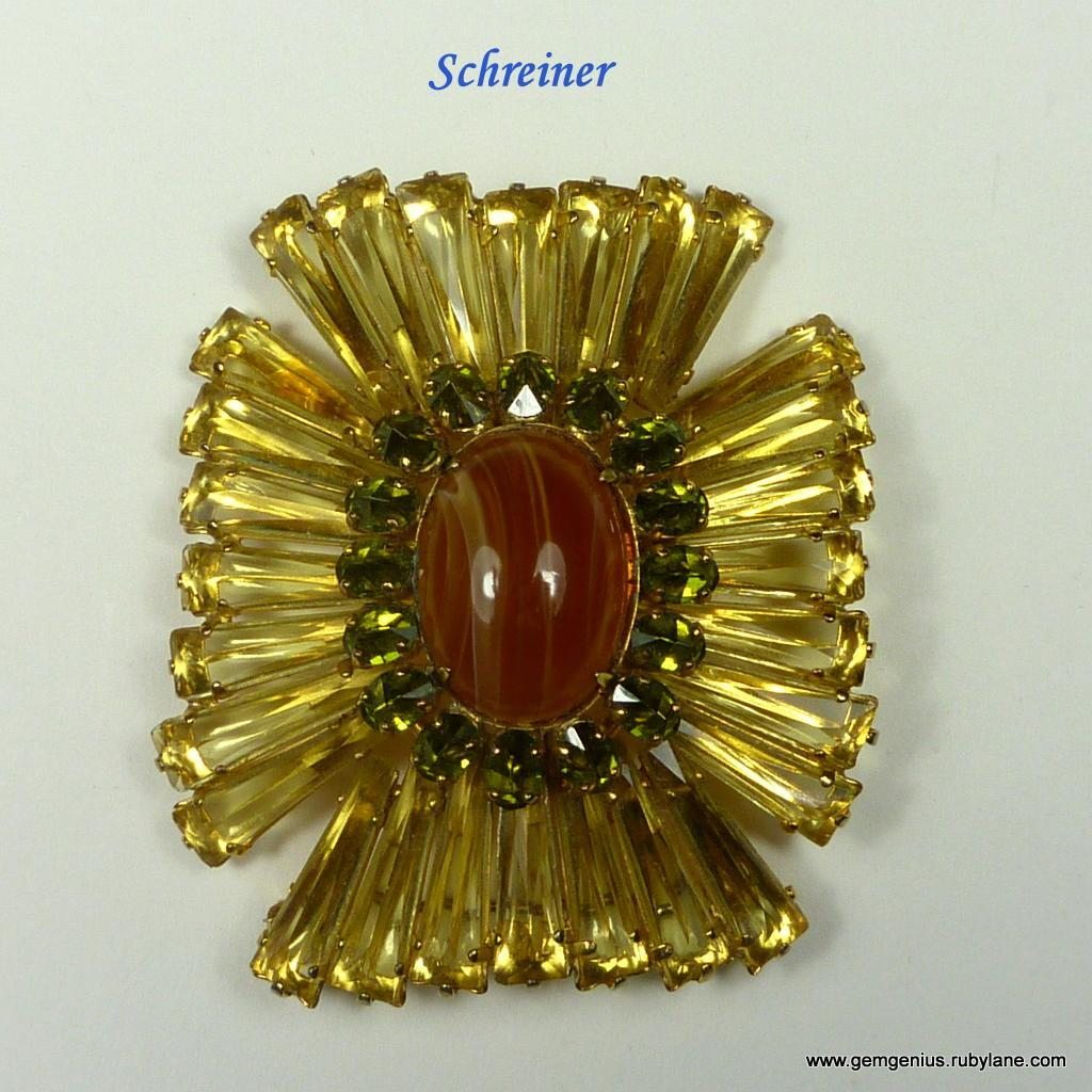 Huge Schreiner Ruffle Brooch From Gemgenius On Ruby Lane. Plain Sterling Silver Bangle Bracelets. Opal Gold Jewellery. Soul Sister Necklace. Designer Bangles. Infinity Engagement Ring With Wedding Band. Custom Made Watches. Cute Anklets. 7 Stone Marquise Diamond Anniversary Band