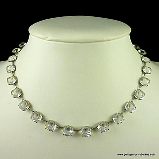 Art Deco Openback Crystal Necklace