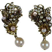 Bijoux Heart Pearl Drop Earrings