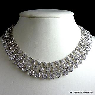 Open Back Crystal Collar