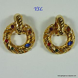 YSL Hoop Earrings