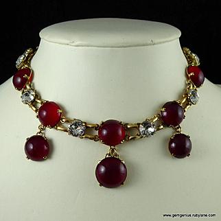 Vintage French Rhinestone Necklace