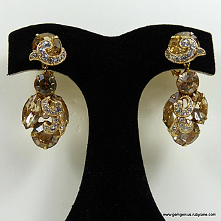 Eisenberg Rhinestone Drop Earrings
