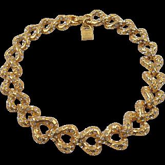 Rare Vintage Alexis Lahellec Paris Signed Jeweled Choker Necklace