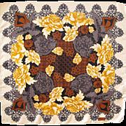 Christian Lacroix Paris 100% pure Silk Scarf vintage ballerina floral pattern - Red Tag Sale Item