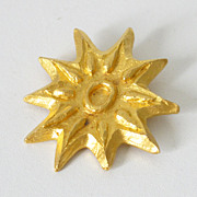 Edouard Rambaud Paris Signed Vintage brushed gold-plated modernist Sun Pin Brooch