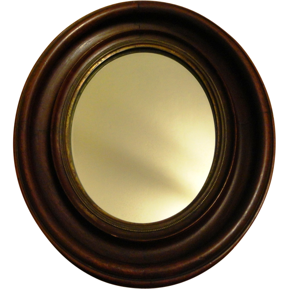 Antique Oval Wood Frame Mirror Sold On Ruby Lane