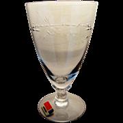 Elegant Fostoria 'Nosegay' Crystal Ice Tea Goblets