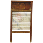 'Two In One' Carolina Hardwood and Glass Washboard Co No 8