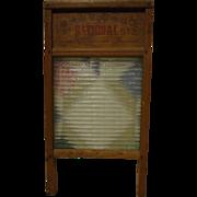 National Washboard Co Hardwood and Glass Washboard No 512