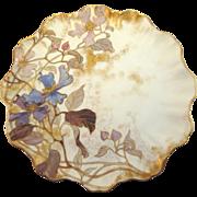 Doulton Burslem Hand Painted Floral Plate, c. 1887