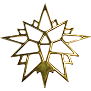 Virginia Metal Crafters Brass Moravian Star Ornament
