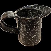 USN Half Pint Measure Speckled Enamelware Jug