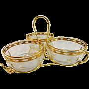 Culver Glass 'Valencia' Pattern Triple Nut & Mint Service