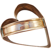 Vintage Heart Shaped Copper Cookie Cutter