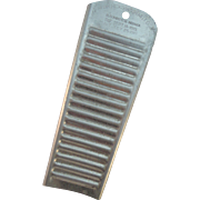 Hand Held Metal Washboard, Ca. 1916 Aluminum Hicks Wash Mitt