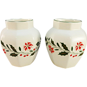 Pair of Royal Kent China 'Poinsettia'  Vases - Red Tag Sale Item