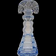 Czechoslovakian Art Deco Blue Glass Perfume Bottle