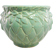 McCoy Mint Green Quilted Jardiniere