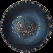 Eldreth Pottery Sgraffito Redware Plate, Floral and Grape Design