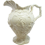 Copeland and Garrett Creamware Pitcher, Ca. 1835
