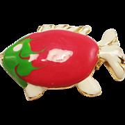 Giovanni Enameled Fish Pin