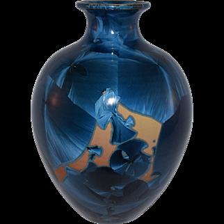 Superb Bevan Norkin Crystalline Glaze Art Pottery  Vase, Signed, Dated