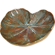 Virginia Metalcrafters Brass Leaf Tray, Geranium