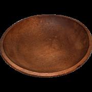 Vintage Round Wooden Bowl, Beautiful Patina