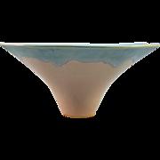Studio Pottery Bowl, Pastel Blue/Pink Glaze