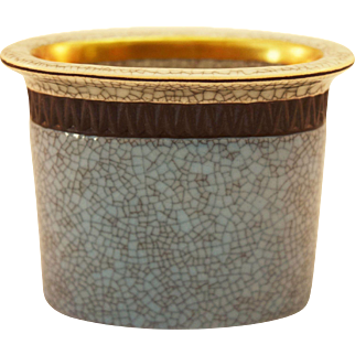 Royal Copenhagen Porcelain Crackle Ware Toothpick Holder