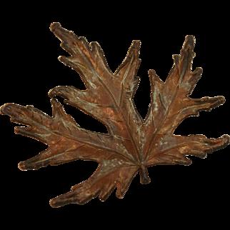 Mid Century Copper Leaf Pin/Pendant
